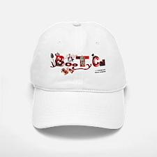 BOO-THAY-RED-LETTERS2 Baseball Baseball Cap