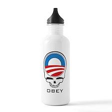 ObamaSkullObey4C Water Bottle