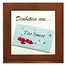 Diabetics Framed Tile