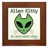 Alien cats Framed Tiles