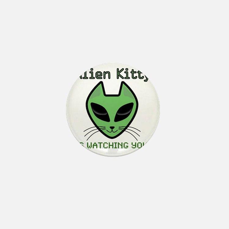 2-AlienKitty-IsWatching Mini Button