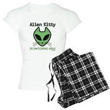 2-AlienKitty-IsWatching Pajamas