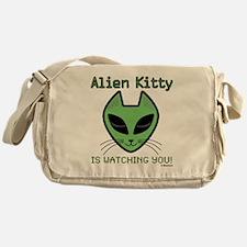 2-AlienKitty-IsWatching Messenger Bag