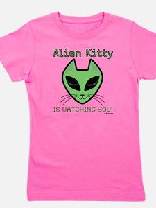 2-AlienKitty-IsWatching Girl's Tee