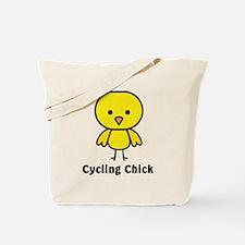 2-cycling chick Tote Bag