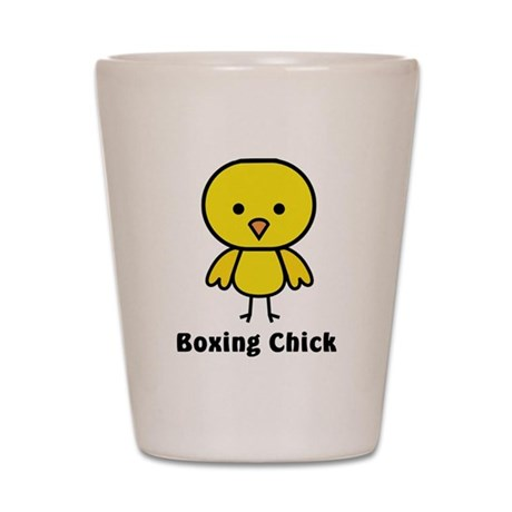 boxing chick Shot Glass