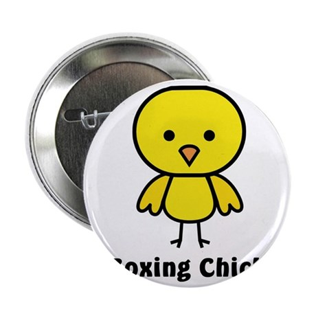 "boxing chick 2.25"" Button"