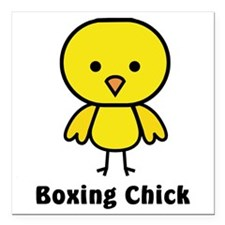 "boxing chick Square Car Magnet 3"" x 3"""