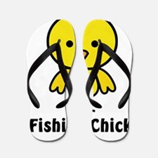 fishing chick Flip Flops