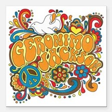 "2-geronimogroovy Square Car Magnet 3"" x 3"""