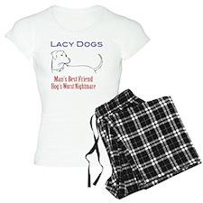 lacy hog dog tshirt front Pajamas