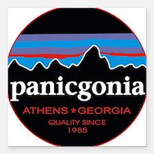 """PANICGONIA Square Car Magnet 3"""" x 3"""""""