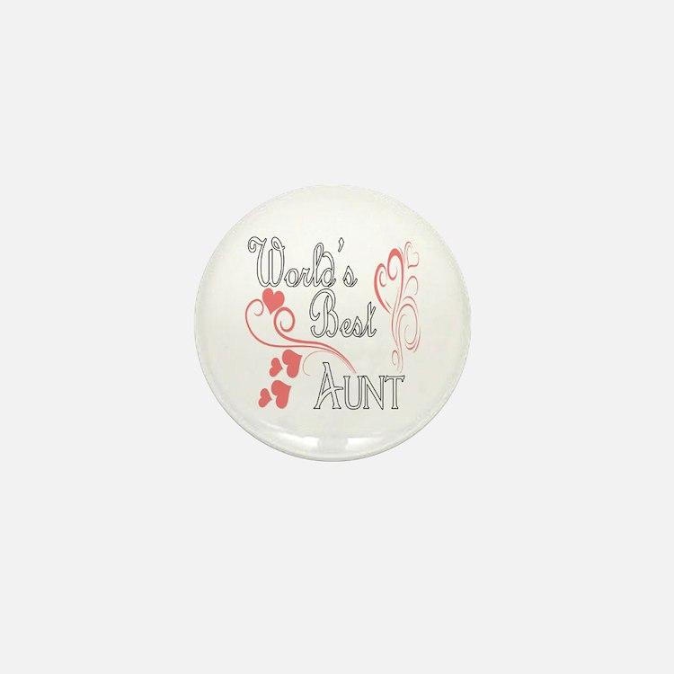 Hearts Aunt copy Mini Button