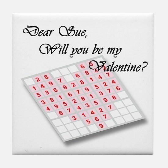 Valentine Sudoku Tile Coaster