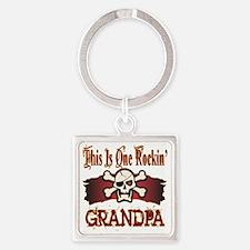 Rockin Grandpa copy Square Keychain