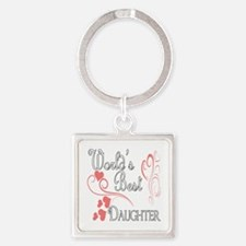 Hearts Daughter copy Square Keychain