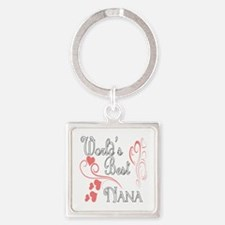 Hearts Nana copy Square Keychain