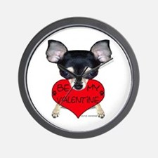Chihuahua Valentine Wall Clock