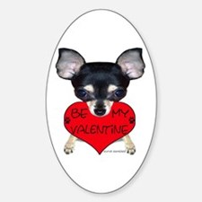 Chihuahua Valentine Oval Decal