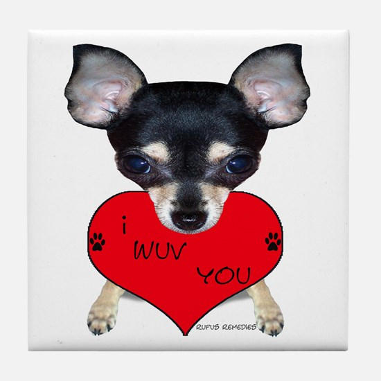 Chihuahua Valentine Tile Coaster