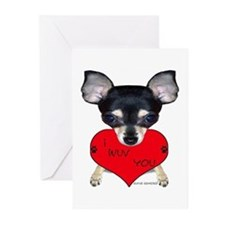 Chihuahua Valentine Greeting Cards (Pk of 10)