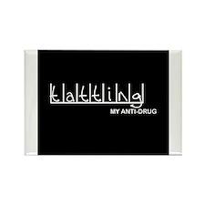 Tatting - My Anti-Drug Rectangle Magnet