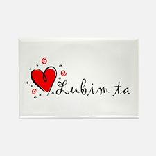 """I Love You"" [Slovak] Rectangle Magnet"
