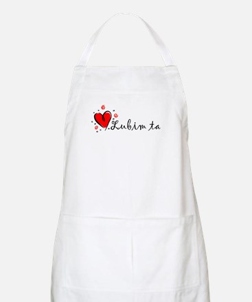 """I Love You"" [Slovak] BBQ Apron"
