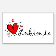 """I Love You"" [Slovak] Rectangle Decal"