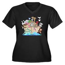 2cc Women's Plus Size Dark V-Neck T-Shirt