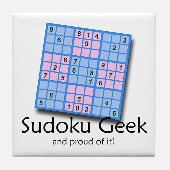 """Sudoku Geek"" Tile Coaster"