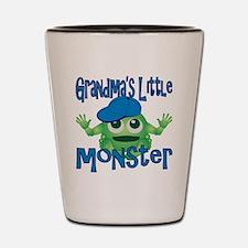 Boy Grandmas Little Monster Shot Glass