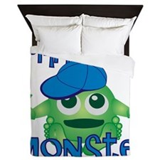 Boy Mommys Little Monster Queen Duvet