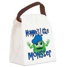 Boy Mommys Little Monster Canvas Lunch Bag