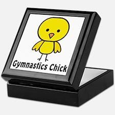 gymnastics chick Keepsake Box