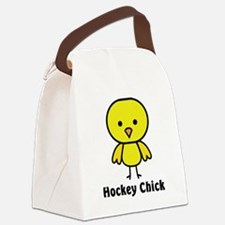 hockey chick Canvas Lunch Bag