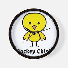 hockey chick Wall Clock