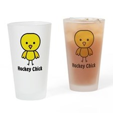 hockey chick Drinking Glass
