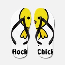 hockey chick Flip Flops