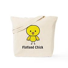 2-flatland chick Tote Bag