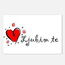 """""""I Love You"""" [Serbian] Postcards (Package of 8)"""