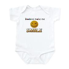 Boobies make me smile Infant Bodysuit