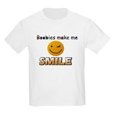 Boobies make me smile Kids T-Shirt