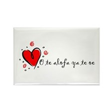 """I Love You"" [Samoan] Rectangle Magnet"