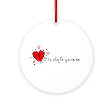 """I Love You"" [Samoan] Ornament (Round)"