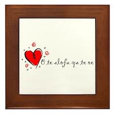 """I Love You"" [Samoan] Framed Tile"