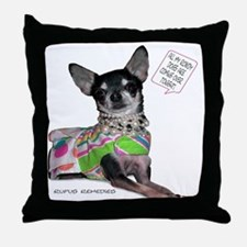 Chloe-Chihuahua Throw Pillow