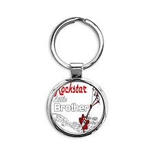 Rockstar Brother little copy Round Keychain