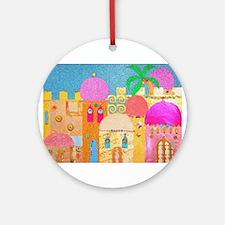Jerusalem City of Gold Ornament (Round)
