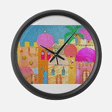Jerusalem City of Gold Large Wall Clock